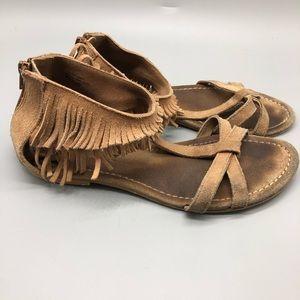 Seychelles weekender brown leather fringe sandals